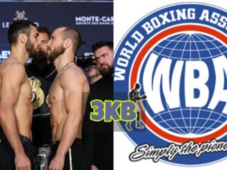 Alexander Besputin vs Radzhab Butaev Face-off & WBA Logo