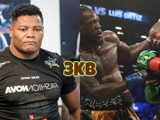 Luis Ortiz and image from Wilder vs Ortiz 1