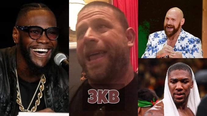 Deontay Wilder, Herman Caicedo, Tyson Fury and Anthony Joshua