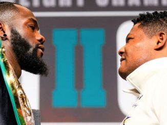 Deontay Wilder and Luis Ortiz (rigth)
