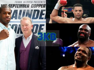 Daniel Dubois and Frank Warren, Joe Joyce, Dereck Chisora and Dillian Whyte