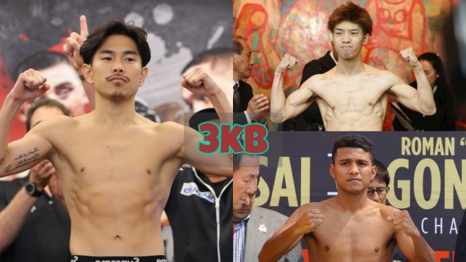 Kazuto Ioka, Kosei Tanaka and Roman Gonzalez