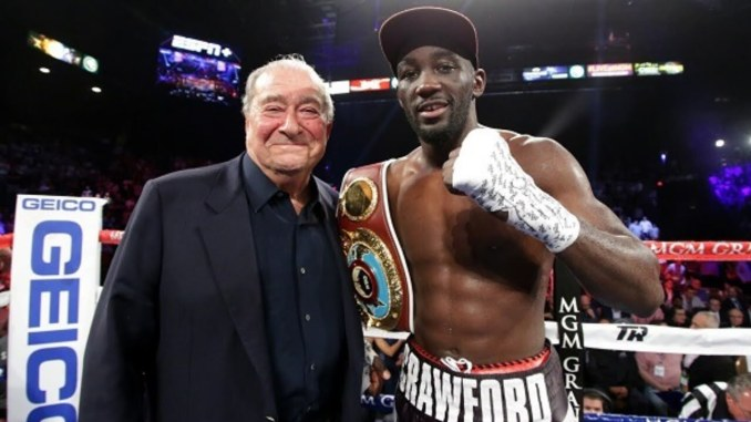 Bob Arum and Terence Crawford (right)