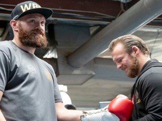 Tyson Fury and trainer Ben Davison