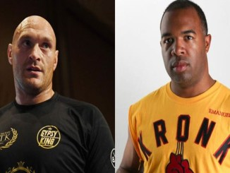 "Tyson Fury (left), Javan ""Sugar"" Hill"
