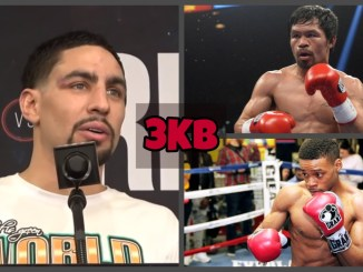 (clockwise from left) Danny Garcia, Manny Pacquiao, Errol Spence Jr.