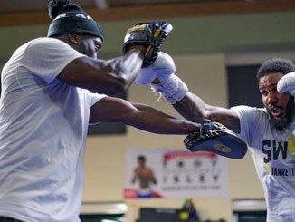 Jarrett Hurd trains with Coach Kay Koroma