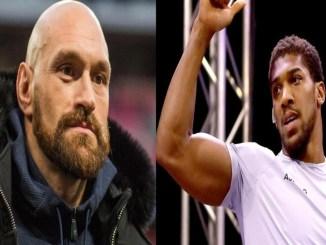 Tyson Fury (left), Anthony Joshua