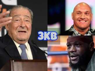 Bob Arum, Tyson Fury and Deontay Wilder