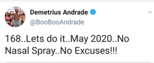 Demetrius Andrade via Twitter