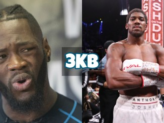 Deontay Wilder (left), Anthony Joshua
