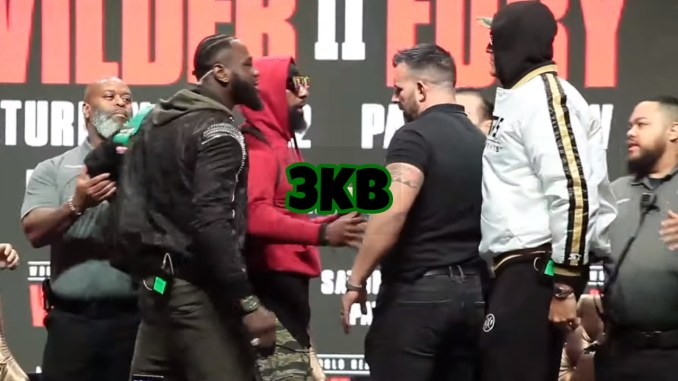 Deontay Wilder and Tyson Fury at Final Presser