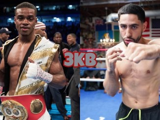 Errol Spence Jr. (left), Danny Garcia