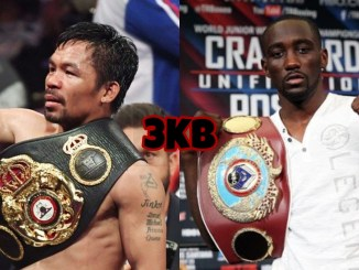 Manny Pacquiao (left), Terence Crawford