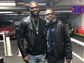 Marcus Browne and his father