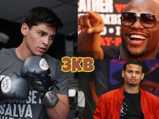 Ryan Garcia, Floyd Mayweather Jr and Rolando Romero