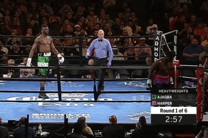 Curtis Harper Walks Out Of The Ring Against Efe Ajagba