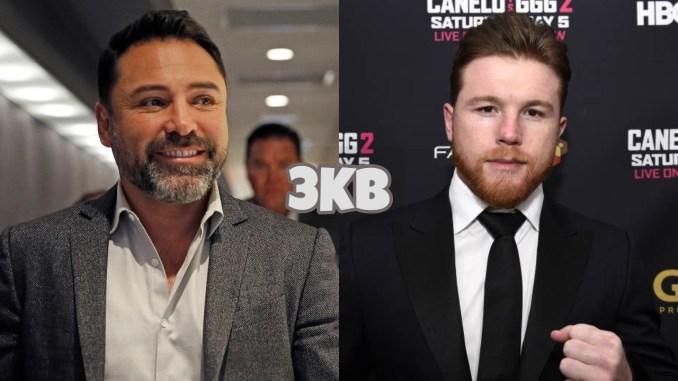 "Oscar De La Hoya (left), Saul ""Canelo"" Alvarez"