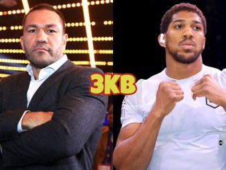 Kubrat Pulev (left), Anthony Joshua