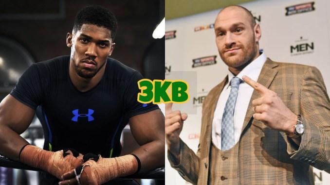 Anthony Joshua (left), Tyson Fury