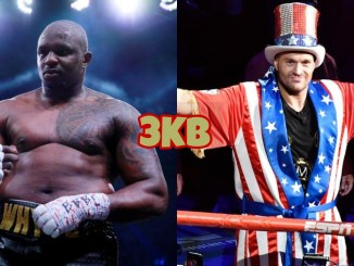 Dillian Whyte (left), Tyson Fury
