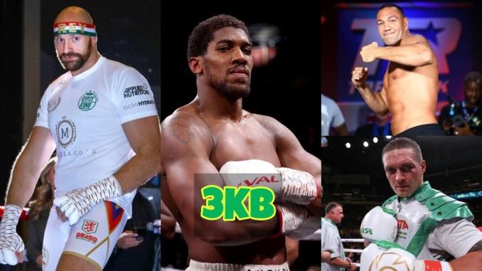 Tyson Fury, Anthony Joshua, Kubrat Pulev and Oleksandr Usyk