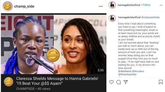 Hanna Gabriels goes after Claressa Shields