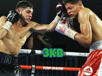 Alex Saucedo lands a jab on Sonny Fredrickson