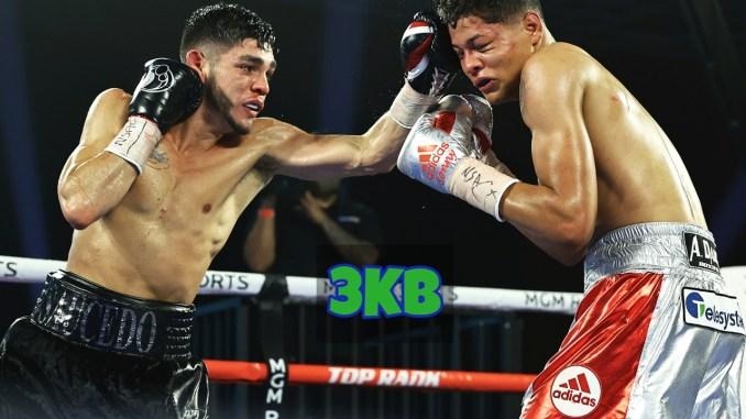 Alex Saucedo lands a jab on Sonny Fredrickson