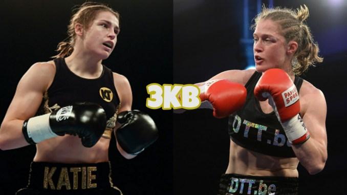 Katie Taylor (left), Delfine Persoon