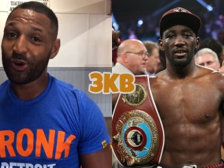 Kell Brook (left), Terence Crawford
