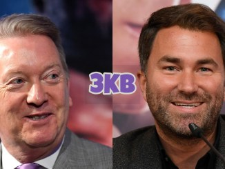 Frank Warren (left), Eddie Hearn
