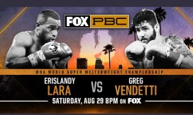 Erislandy Lara vs Greg Vendetti Banner