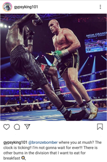 Tyson Fury questions the hold up with Deontay Wilder