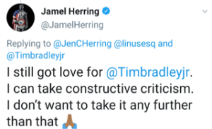Jamel Herring acknowledges criticism from Tim Bradley