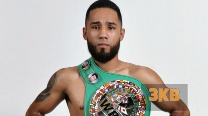 Luis Nery poses with the WBC belt