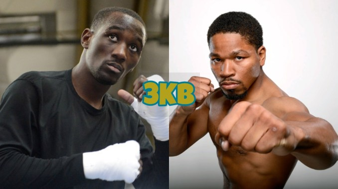 Terence Crawford (left), Shawn Porter