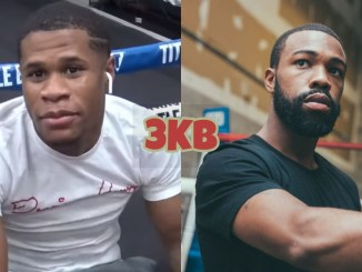 Devin Haney (left), Gary Russell Jr.