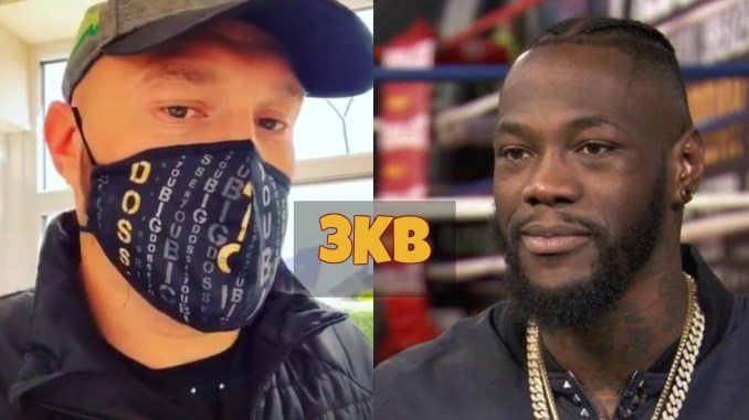 Tyson Fury trolls Deontay Wilder with Big Dosser face mask