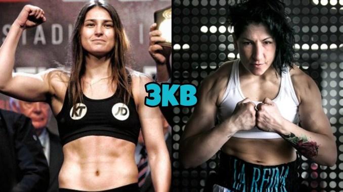 Katie Taylor (left) Miriam Gutierrez