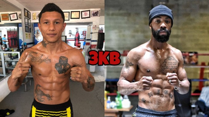 Miguel Berchelt (left), Gary Russell Jr.