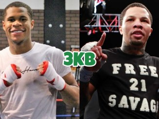 Devin Haney (left), Gervonta Davis