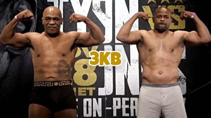 Mike Tyson (left), Roy Jones Jr.
