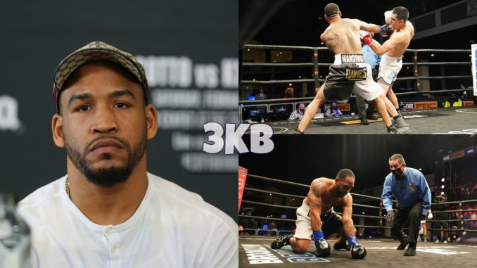James Kirkland looks on as he is beaten and stopped by Juan Montiel