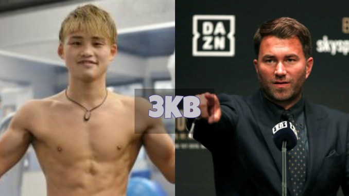 Hiroto Kyoguchi and Eddie Hearn