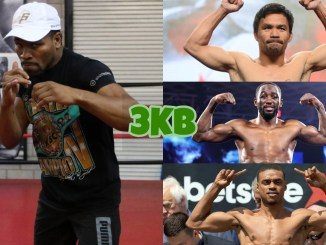 Shawn Porter (left), Manny Pacquiao, Terence Crawford, Errol Spence Jr (top to bottom)