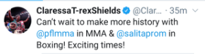 Claressa Shields says more to come in both, MMA and boxing