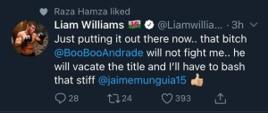 Liam WIlliams says Demetrius Andrade will vacate the WBO Middleweight title