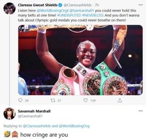 Claressa Shields and Savannah Marshall exchange words over social media