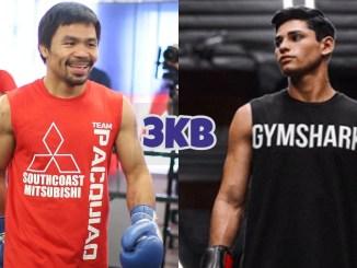 Manny Pacquiao (left), Ryan Garcia
